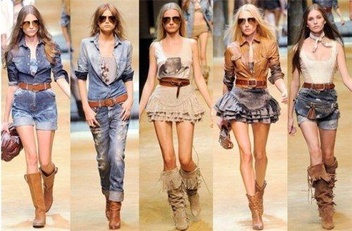 Черты, присущие стилю кантри в одежде