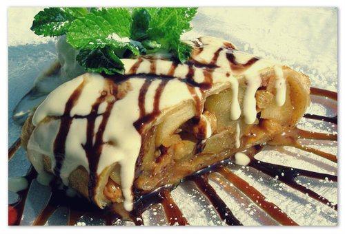 Чешский штрудель из яблок - рецепт: как приготовить штрудель с вишней, с клубникой, с мясом и картошкой, слоёное тесто для штруделя