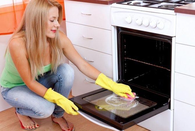 Чистка духовки