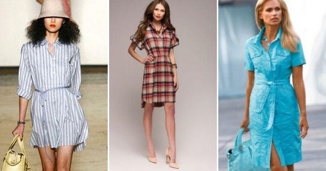 Что модно этим летом платье рубашка