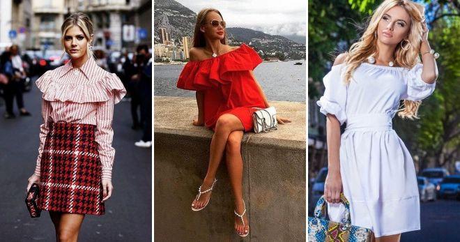 Что модно этим летом воланы