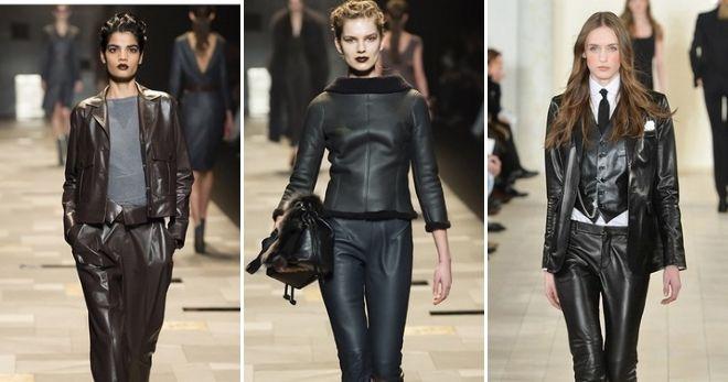 Что модно этой осенью кожаный