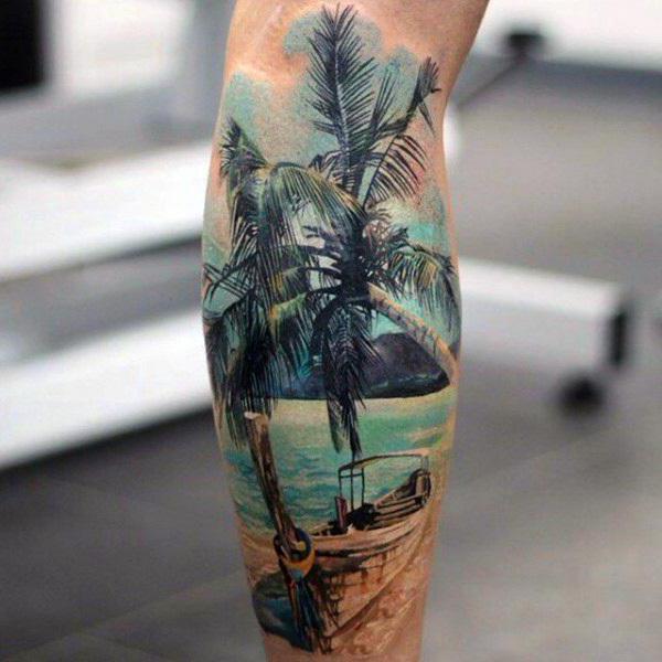 что означает тату пальма на ноге