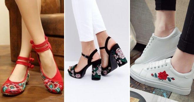 Что сейчас модно из обуви вышивка