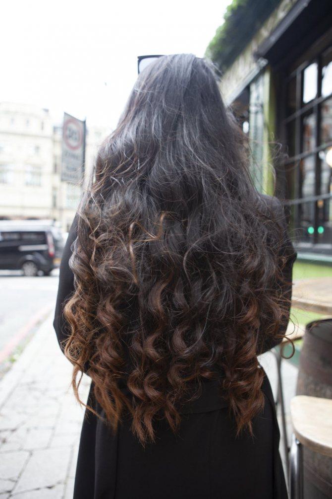 чтобы кудри держались длинные темные волосы азиатские