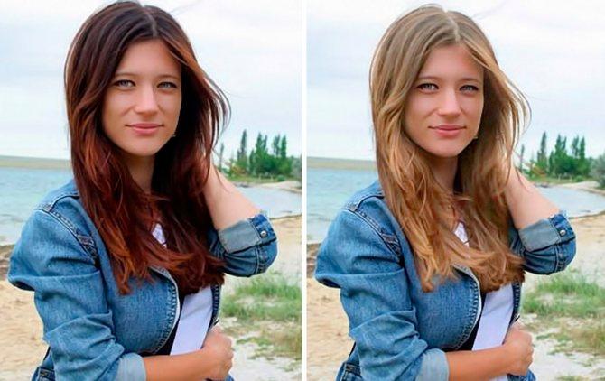 цвет волос девушки