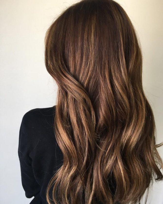 Цвет волос шатен