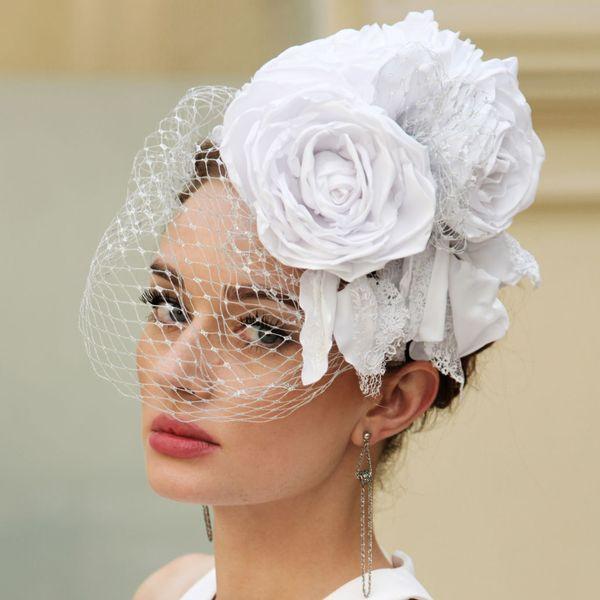 цветки с вуалью для невесты