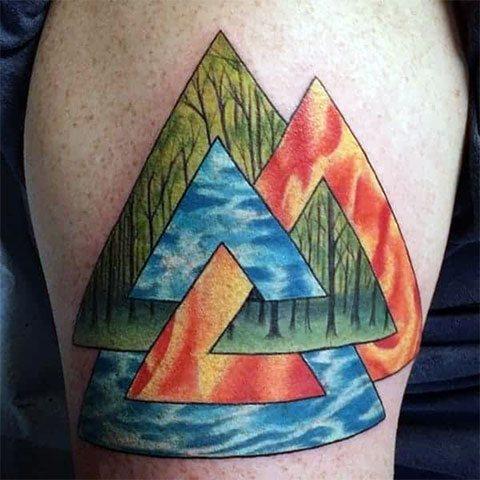 Цветная тату символы