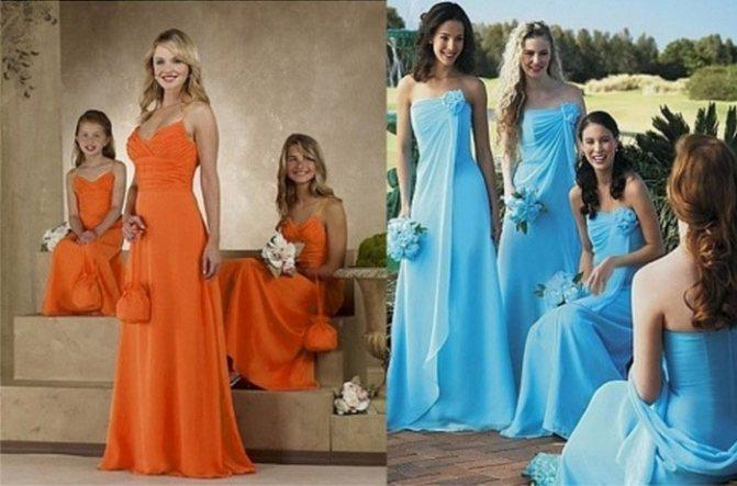 Цветное платье для дружки