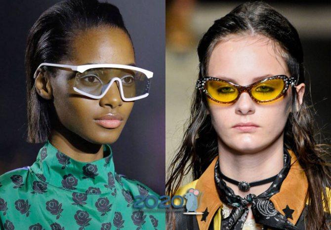 Цветные очки зимы 2020 года
