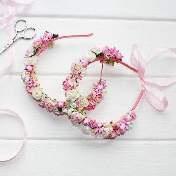 цветочный ободок для прически на свадьбу