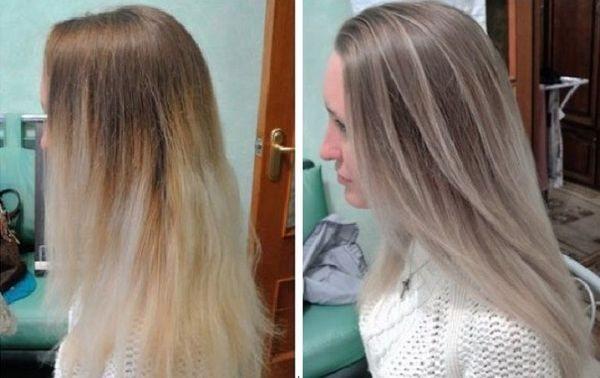 цветовая баня для волос