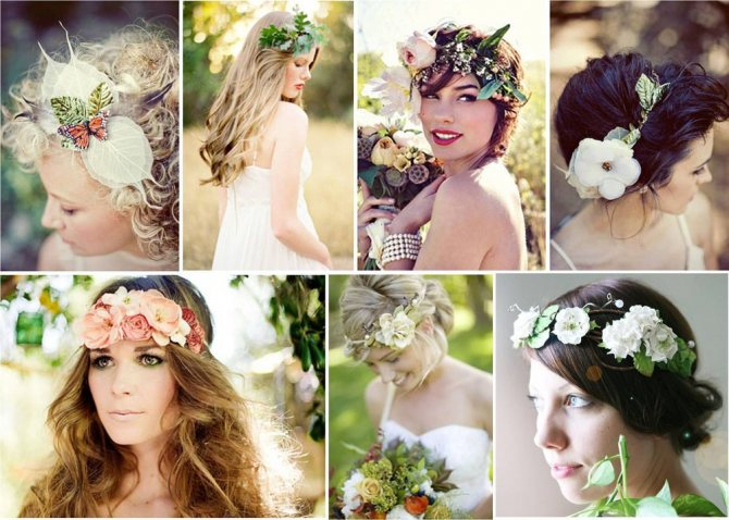 Цветы в причёске невесты, фото № 1