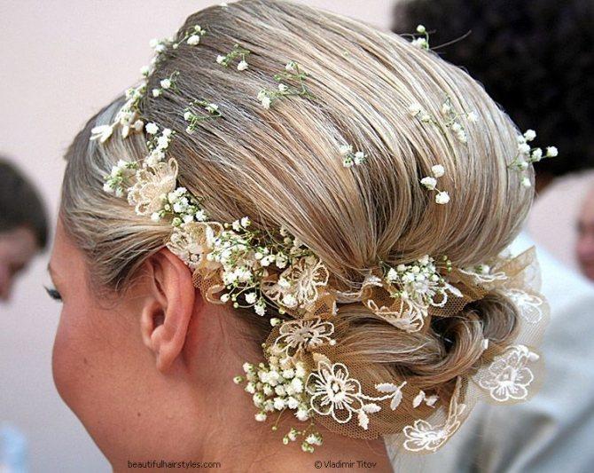 Цветы в причёске невесты, фото № 2