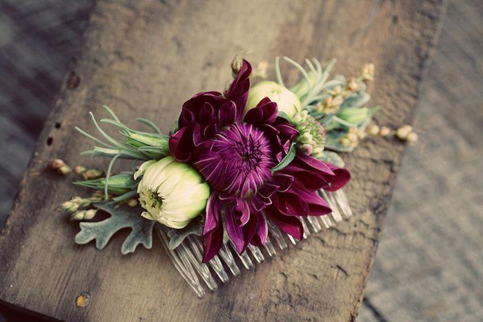 Цветы в причёске невесты, фото № 3