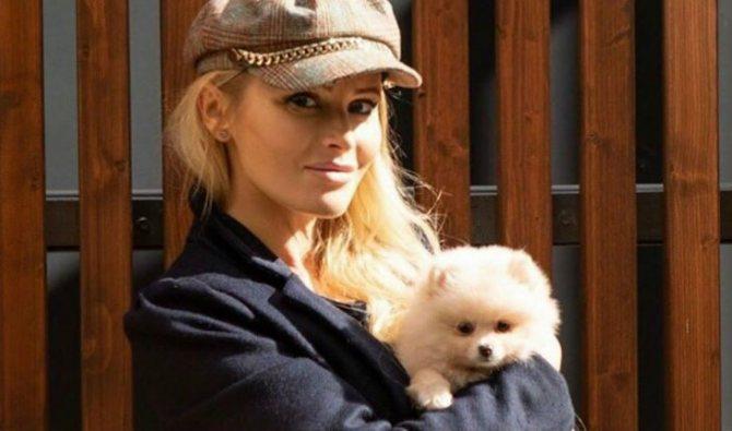 Дана Борисова и ее шпиц Мишель