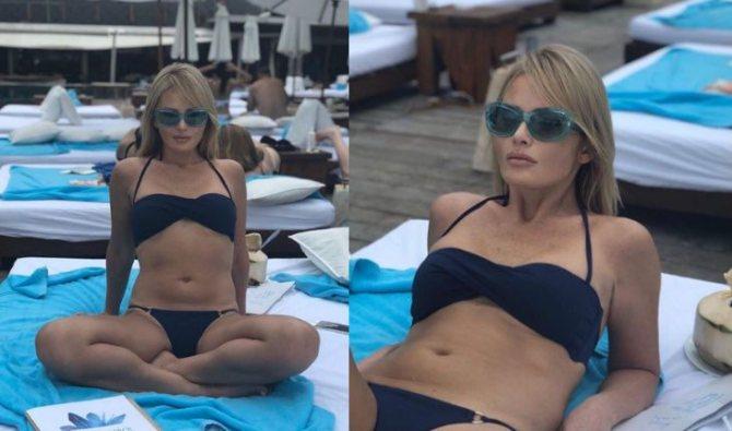 Дана Борисова в купальнике (2020 год)