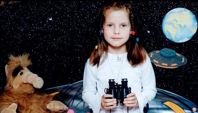 Дарья Клюкина в детстве