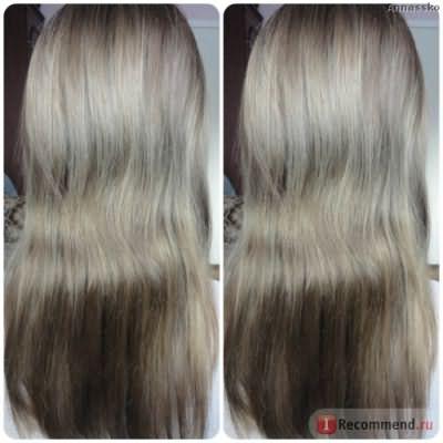 Даже корни не отличались, мой натуральный цвет волос (русый)