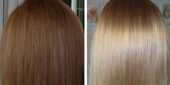 Действие шампуня для смывки краски с волос