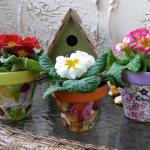 декор цветочных горшков своими руками (главный ключ)