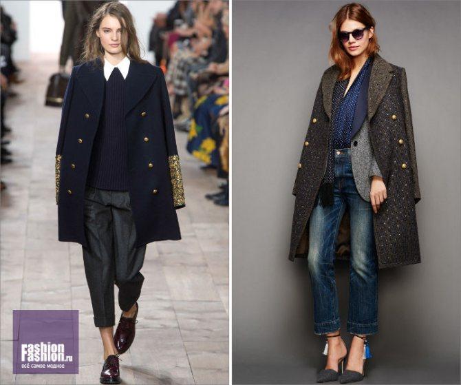 Декор пальто: пайетки, вышивка, бисер
