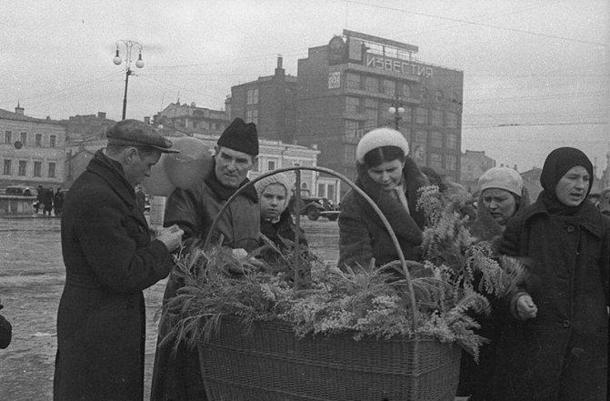 День 8 марта в советской Москве.