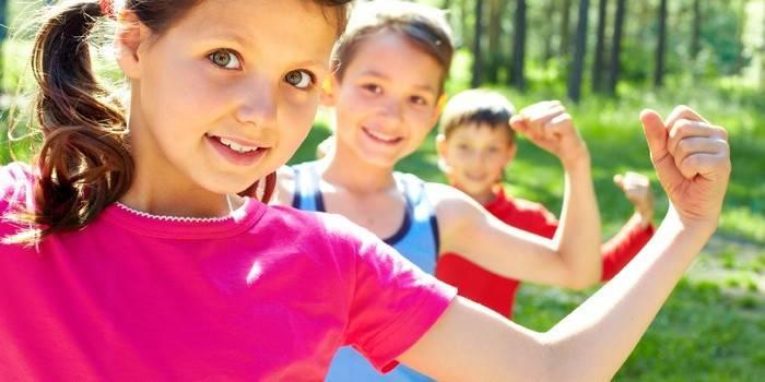 Дети на свежем воздухе