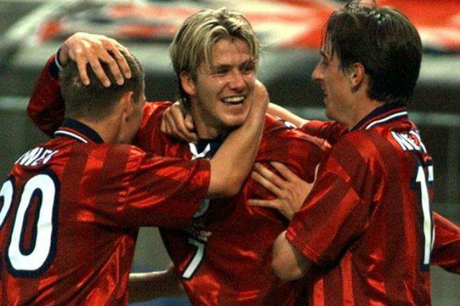 Дэвид Бекхэм на Чемпионате мира-1998