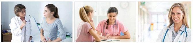 Девушки-подростки на приеме у врача