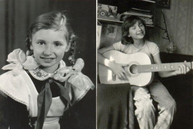 Диана Сергеевна Арбенина в детстве