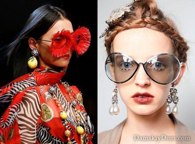 Дизайнерские очки необычной формы 2018