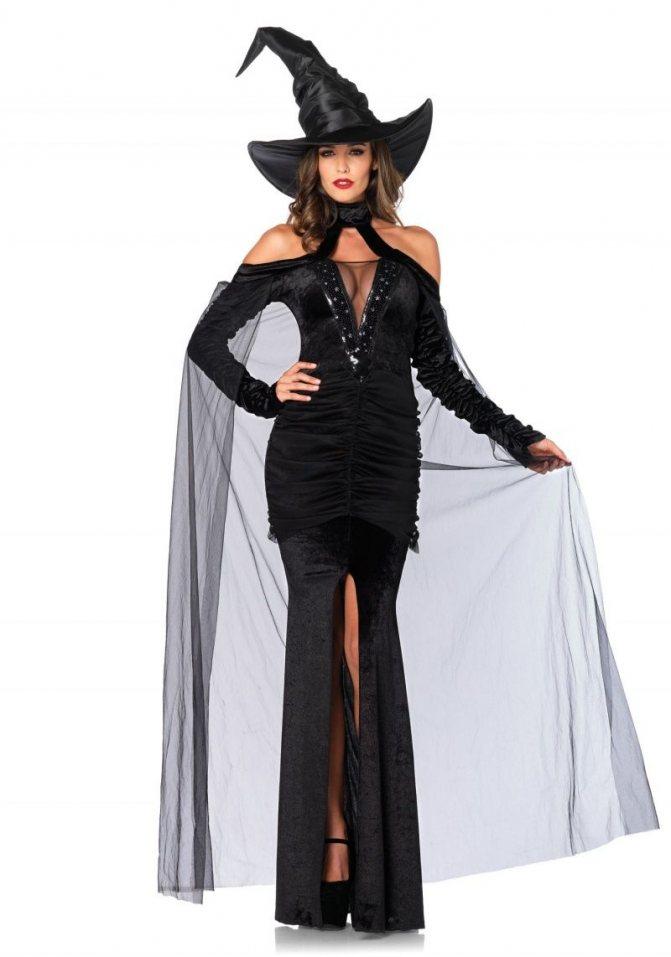 Длинное платье для жуткого наряда Волшебницы