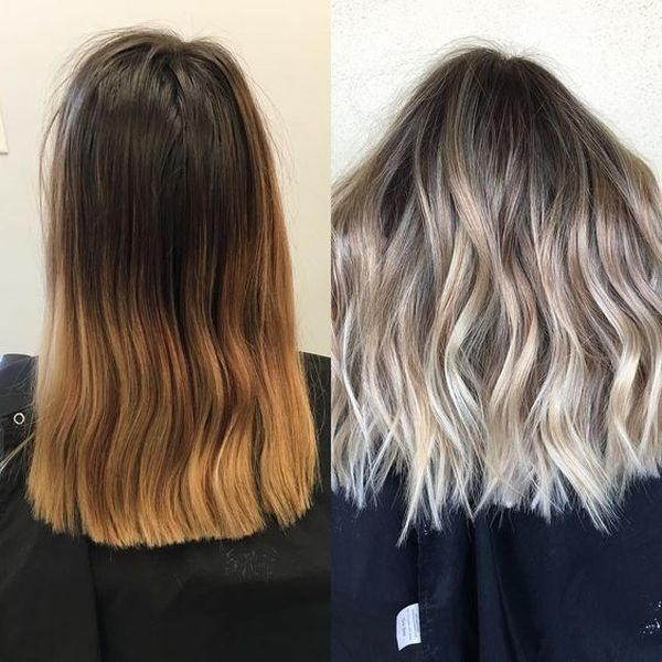 до и после Балаяж