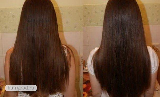 До и после применения настойки перца