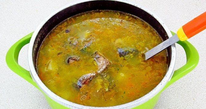 добавление в суп консервов из рыбы
