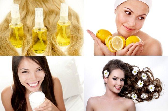 Домашние методы осветления волос