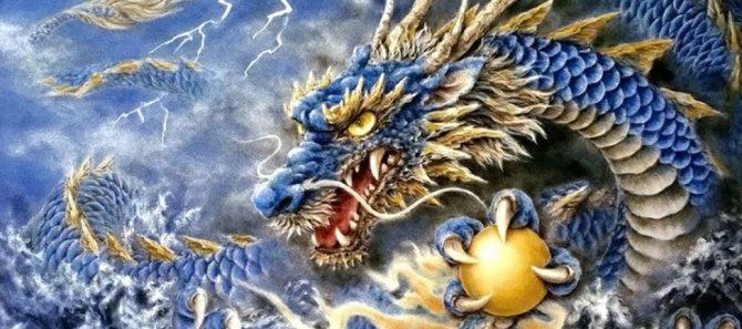 дракон с жемчужиной восток