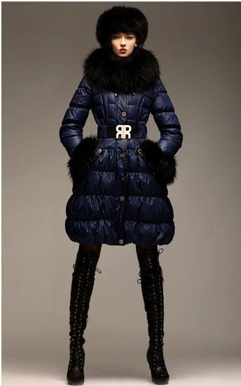 дутая длинная зимняя куртка