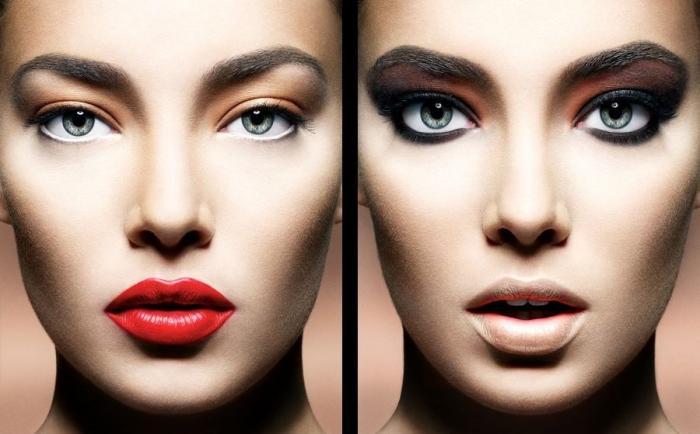 два разных make up