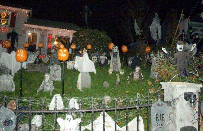 двор с привидениями