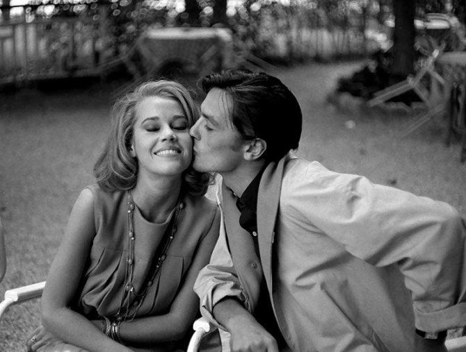 Джейн Фонда и Ален Делон, 1964 год