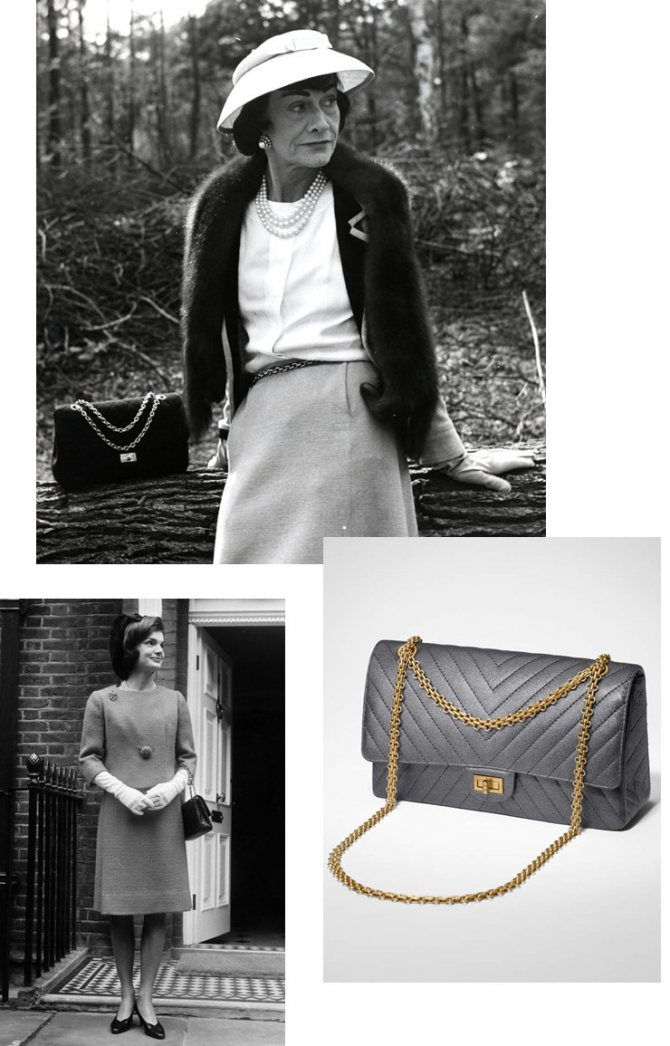 Джеки Кеннеди и Коко Шанель с сумкой «2.55»