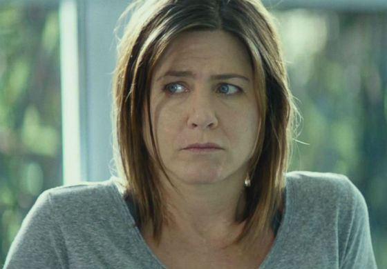 Дженнифер Энистон без макияжа (кадр из фильма «Торт»)