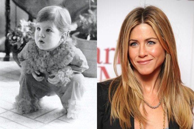 Дженнифер Энистон в детстве и сейчас