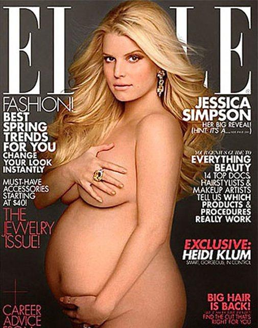 Джессика Симпсон на обложке издания Elle