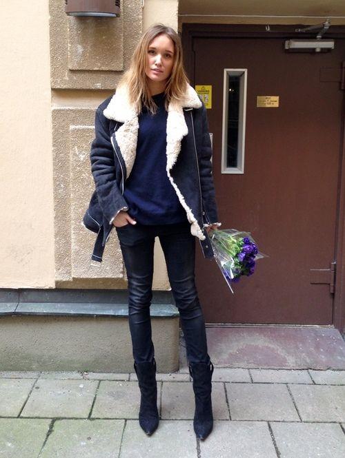 джинсовая зимняя женская куртка