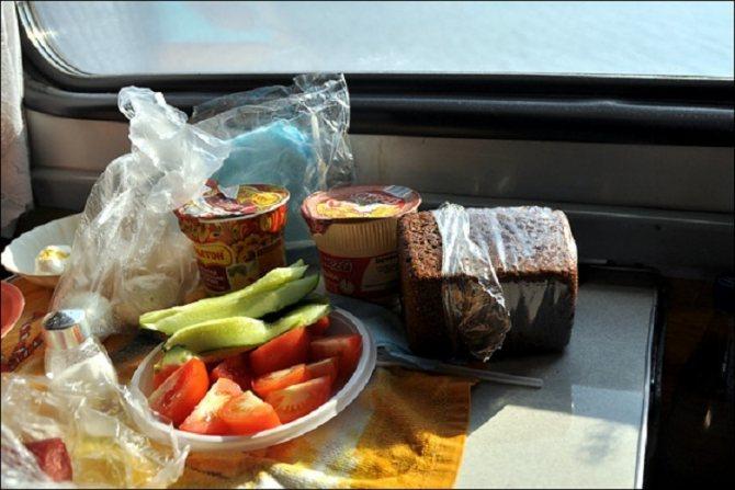 Еда, которую рекомендуется брать с собой в поезд