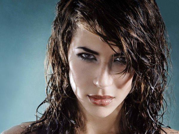 эффект мокрых волос